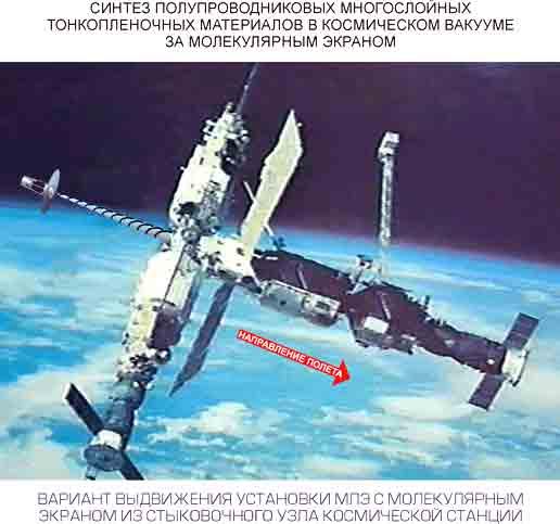 Синтез полупроводниковых материалов в космическом вакууме.